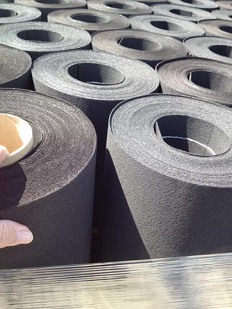 Image of rolls of roofing paper